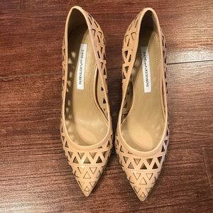 DVF Nude cut out heels